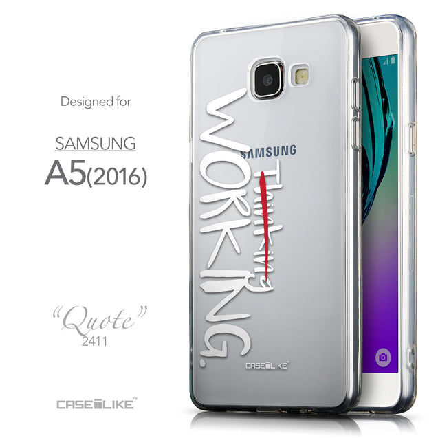 Front & Side View - CASEiLIKE Samsung Galaxy A5 (2016) back cover Quote 2411