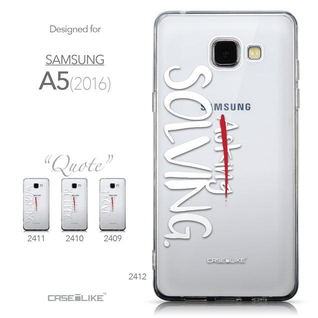 Collection - CASEiLIKE Samsung Galaxy A5 (2016) back cover Quote 2412
