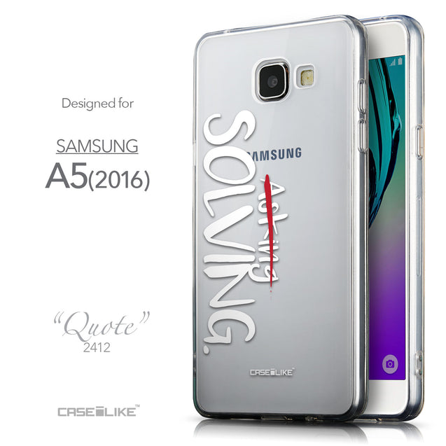 Front & Side View - CASEiLIKE Samsung Galaxy A5 (2016) back cover Quote 2412