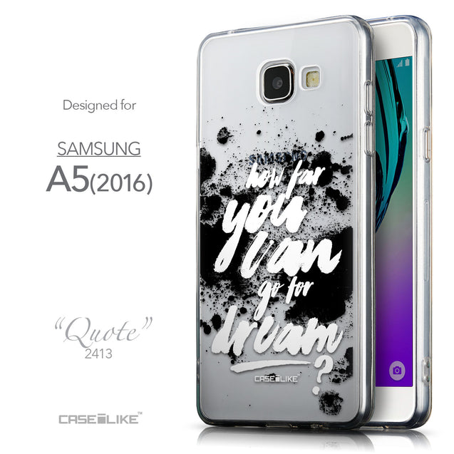 Front & Side View - CASEiLIKE Samsung Galaxy A5 (2016) back cover Quote 2413