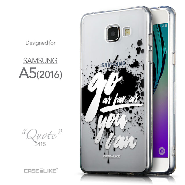 Front & Side View - CASEiLIKE Samsung Galaxy A5 (2016) back cover Quote 2415