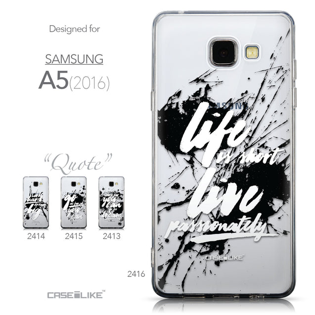Collection - CASEiLIKE Samsung Galaxy A5 (2016) back cover Quote 2416