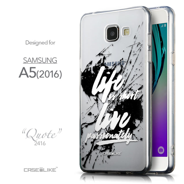 Front & Side View - CASEiLIKE Samsung Galaxy A5 (2016) back cover Quote 2416