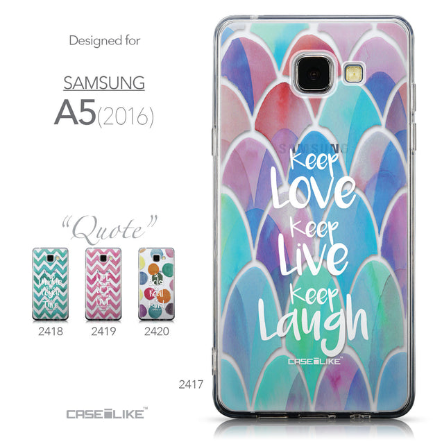 Collection - CASEiLIKE Samsung Galaxy A5 (2016) back cover Quote 2417