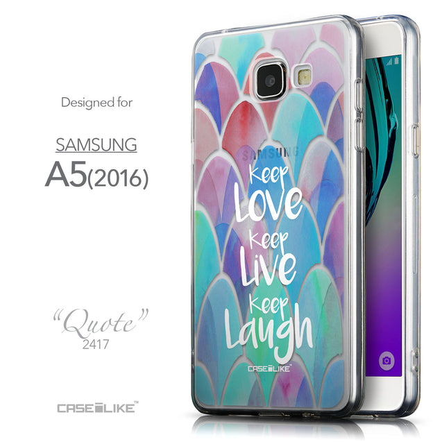 Front & Side View - CASEiLIKE Samsung Galaxy A5 (2016) back cover Quote 2417