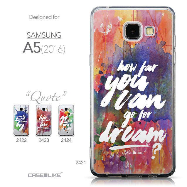 Collection - CASEiLIKE Samsung Galaxy A5 (2016) back cover Quote 2421