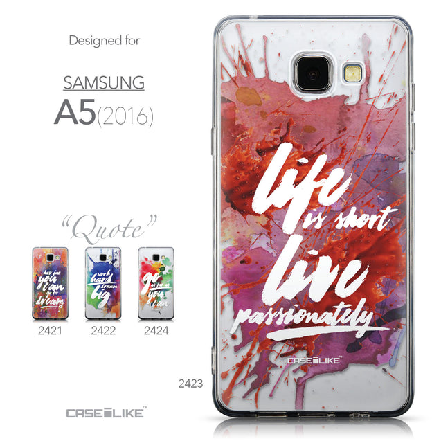Collection - CASEiLIKE Samsung Galaxy A5 (2016) back cover Quote 2423