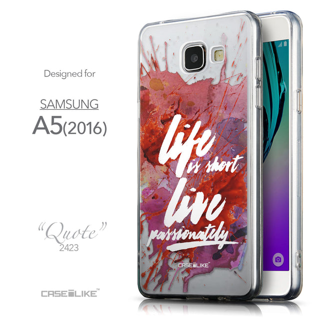 Front & Side View - CASEiLIKE Samsung Galaxy A5 (2016) back cover Quote 2423