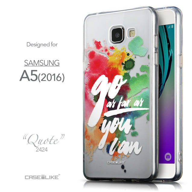 Front & Side View - CASEiLIKE Samsung Galaxy A5 (2016) back cover Quote 2424