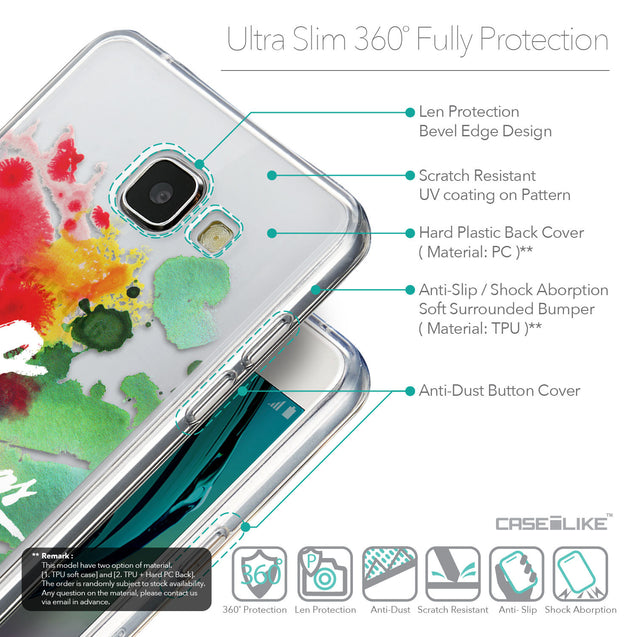 Details in English - CASEiLIKE Samsung Galaxy A5 (2016) back cover Quote 2424