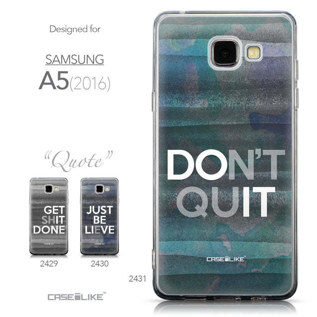 Collection - CASEiLIKE Samsung Galaxy A5 (2016) back cover Quote 2431