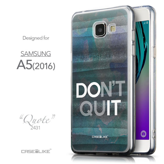 Front & Side View - CASEiLIKE Samsung Galaxy A5 (2016) back cover Quote 2431