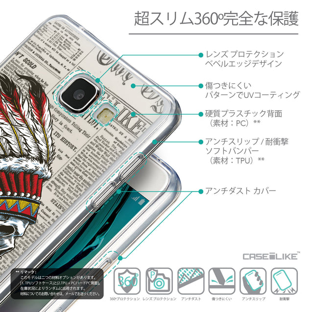 Details in Japanese - CASEiLIKE Samsung Galaxy A5 (2016) back cover Art of Skull 2522