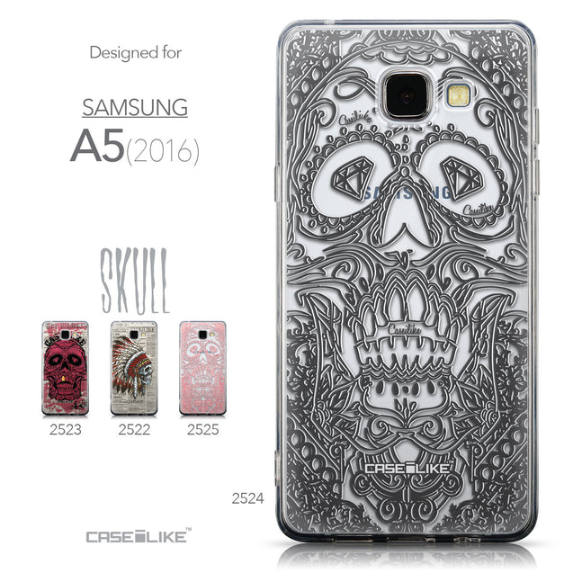 Collection - CASEiLIKE Samsung Galaxy A5 (2016) back cover Art of Skull 2524
