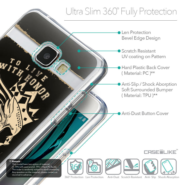 Details in English - CASEiLIKE Samsung Galaxy A5 (2016) back cover Art of Skull 2529