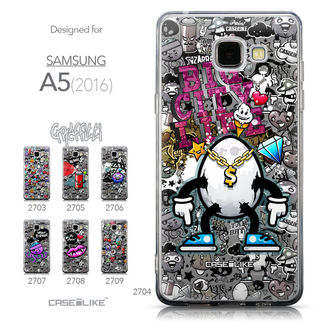 Collection - CASEiLIKE Samsung Galaxy A5 (2016) back cover Graffiti 2704