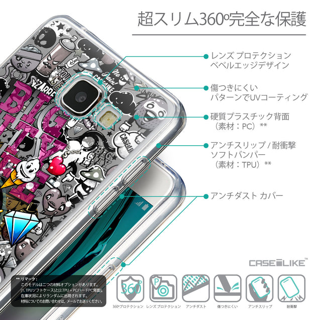 Details in Japanese - CASEiLIKE Samsung Galaxy A5 (2016) back cover Graffiti 2704