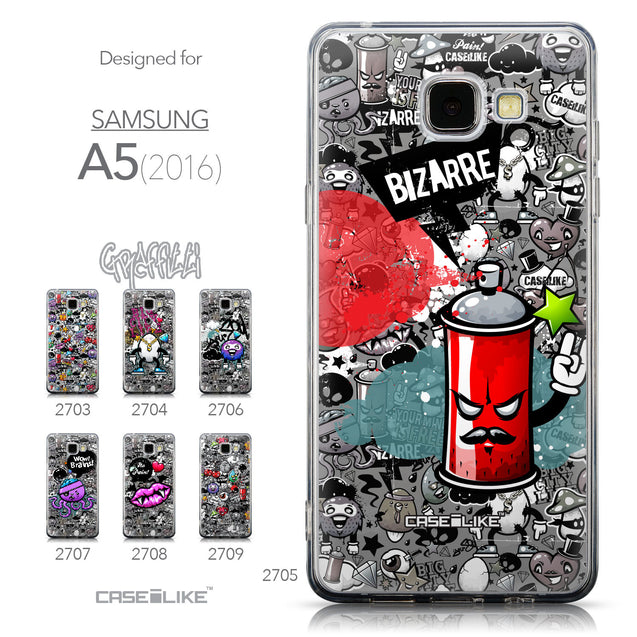 Collection - CASEiLIKE Samsung Galaxy A5 (2016) back cover Graffiti 2705