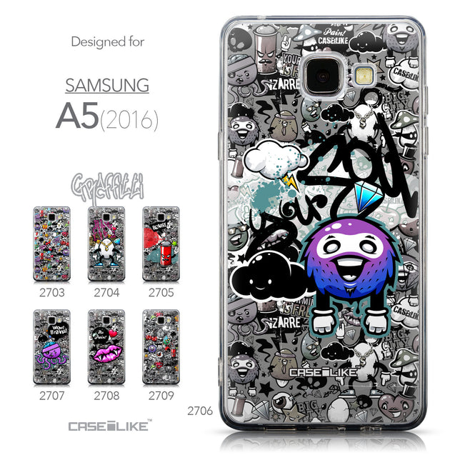 Collection - CASEiLIKE Samsung Galaxy A5 (2016) back cover Graffiti 2706