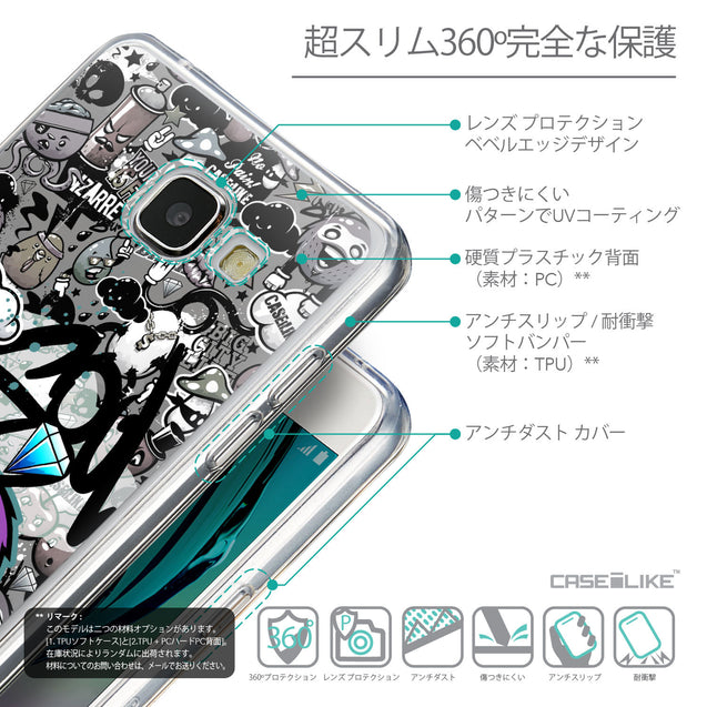 Details in Japanese - CASEiLIKE Samsung Galaxy A5 (2016) back cover Graffiti 2706