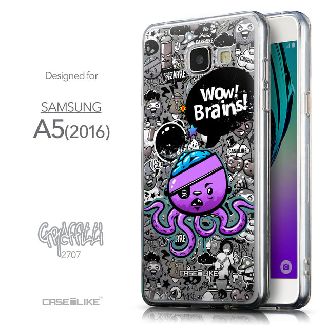 Front & Side View - CASEiLIKE Samsung Galaxy A5 (2016) back cover Graffiti 2707