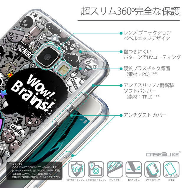 Details in Japanese - CASEiLIKE Samsung Galaxy A5 (2016) back cover Graffiti 2707