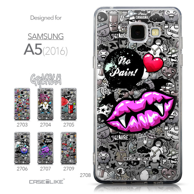 Collection - CASEiLIKE Samsung Galaxy A5 (2016) back cover Graffiti 2708