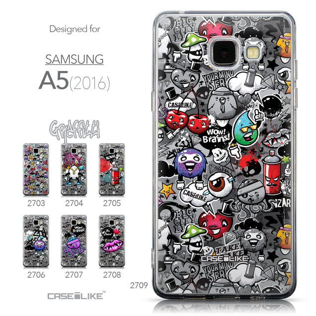 Collection - CASEiLIKE Samsung Galaxy A5 (2016) back cover Graffiti 2709