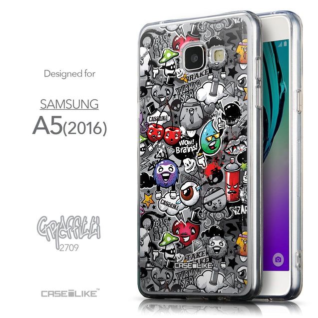 Front & Side View - CASEiLIKE Samsung Galaxy A5 (2016) back cover Graffiti 2709