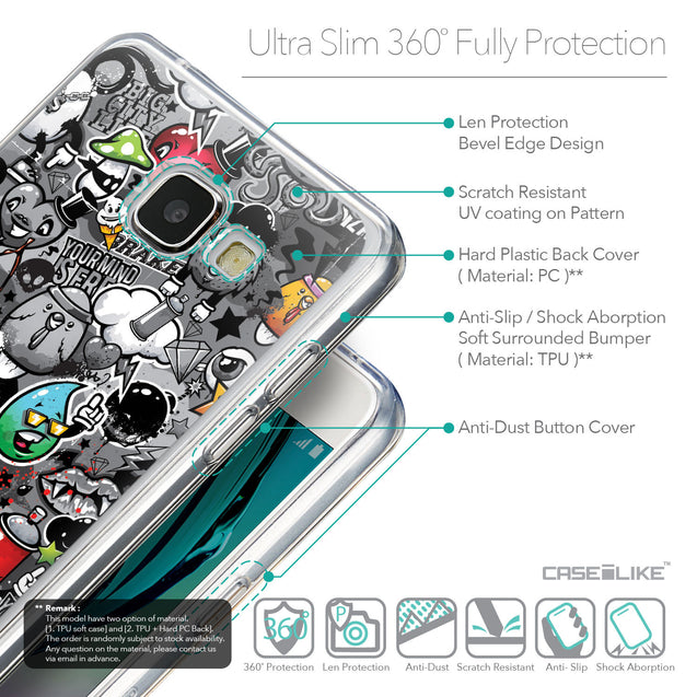 Details in English - CASEiLIKE Samsung Galaxy A5 (2016) back cover Graffiti 2709