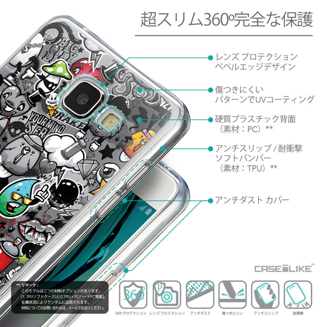 Details in Japanese - CASEiLIKE Samsung Galaxy A5 (2016) back cover Graffiti 2709