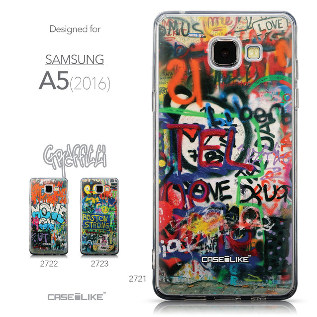 Collection - CASEiLIKE Samsung Galaxy A5 (2016) back cover Graffiti 2721