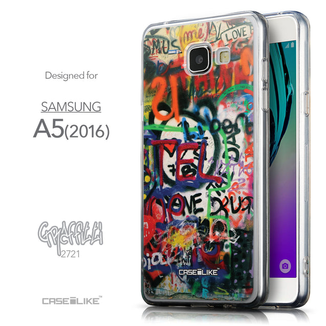 Front & Side View - CASEiLIKE Samsung Galaxy A5 (2016) back cover Graffiti 2721