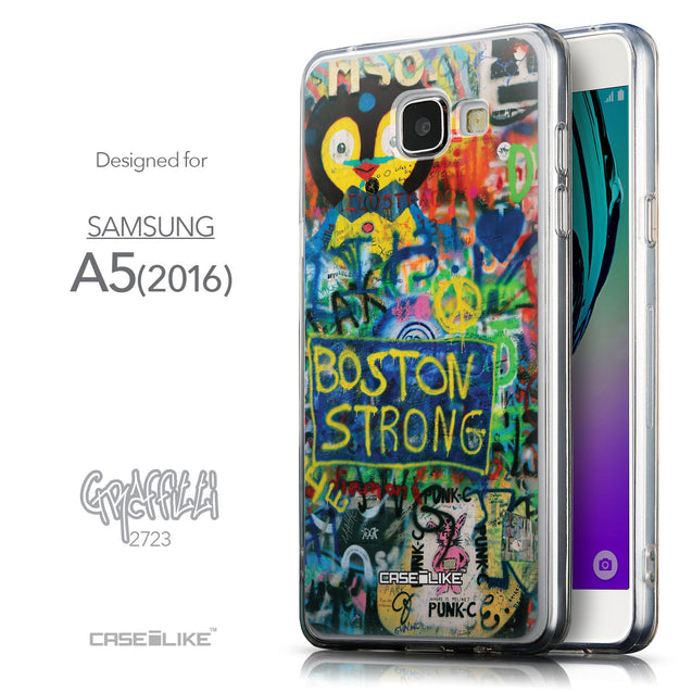 Front & Side View - CASEiLIKE Samsung Galaxy A5 (2016) back cover Graffiti 2723