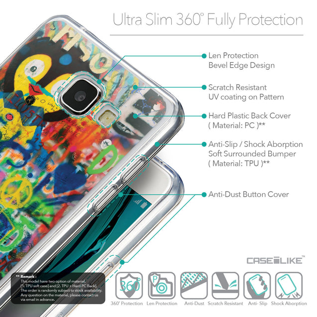 Details in English - CASEiLIKE Samsung Galaxy A5 (2016) back cover Graffiti 2723