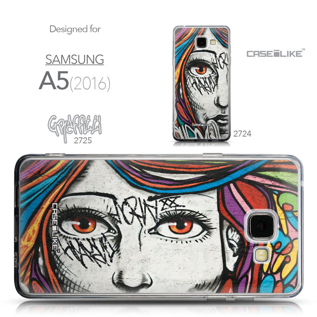 Collection - CASEiLIKE Samsung Galaxy A5 (2016) back cover Graffiti Girl 2725