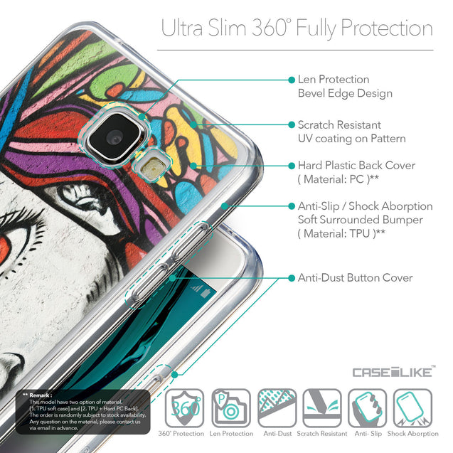 Details in English - CASEiLIKE Samsung Galaxy A5 (2016) back cover Graffiti Girl 2725