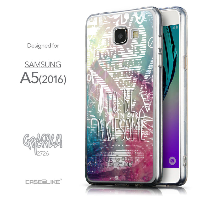 Front & Side View - CASEiLIKE Samsung Galaxy A5 (2016) back cover Graffiti 2726