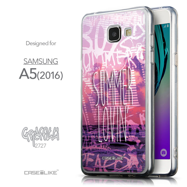 Front & Side View - CASEiLIKE Samsung Galaxy A5 (2016) back cover Graffiti 2727