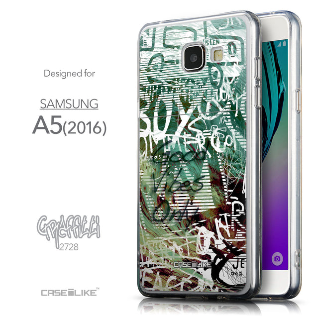 Front & Side View - CASEiLIKE Samsung Galaxy A5 (2016) back cover Graffiti 2728