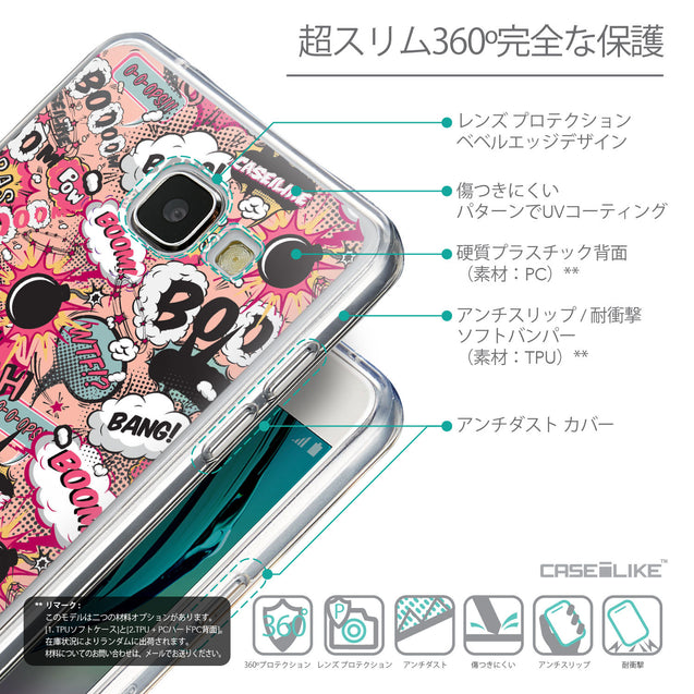 Details in Japanese - CASEiLIKE Samsung Galaxy A5 (2016) back cover Comic Captions Pink 2912