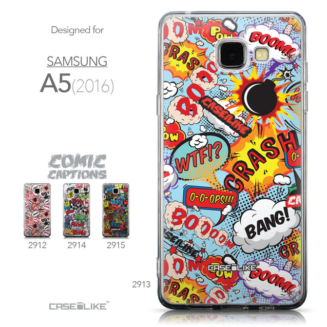Collection - CASEiLIKE Samsung Galaxy A5 (2016) back cover Comic Captions Blue 2913