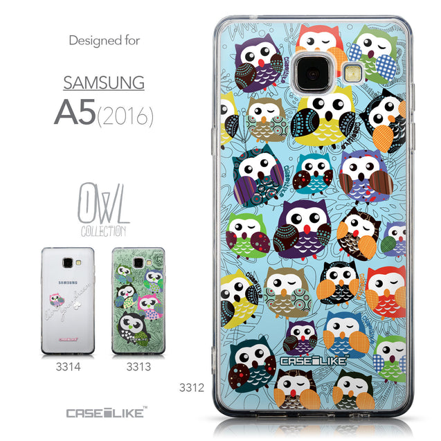 Collection - CASEiLIKE Samsung Galaxy A5 (2016) back cover Owl Graphic Design 3312