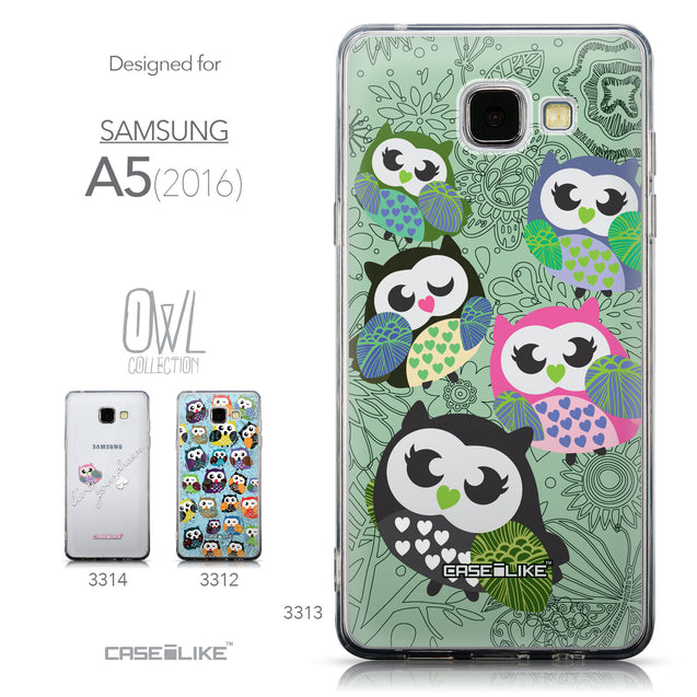 Collection - CASEiLIKE Samsung Galaxy A5 (2016) back cover Owl Graphic Design 3313