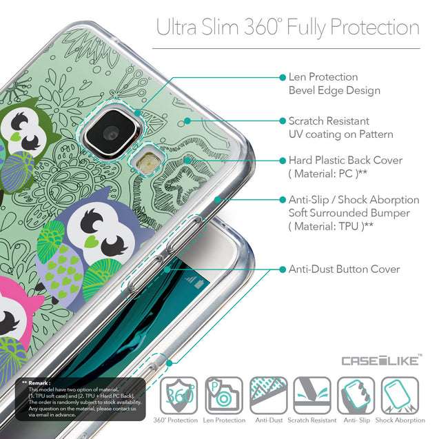 Details in English - CASEiLIKE Samsung Galaxy A5 (2016) back cover Owl Graphic Design 3313