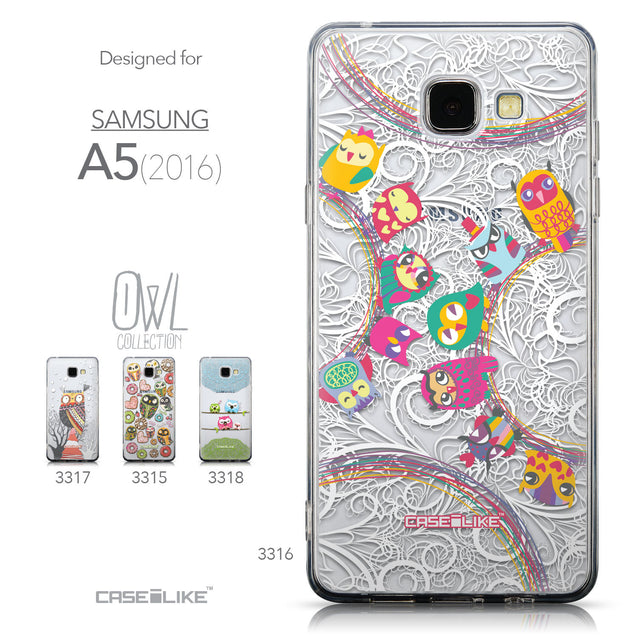 Collection - CASEiLIKE Samsung Galaxy A5 (2016) back cover Owl Graphic Design 3316