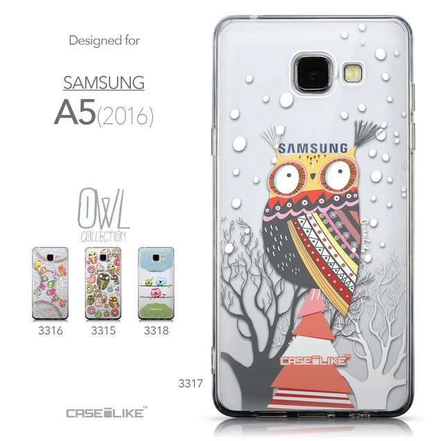 Collection - CASEiLIKE Samsung Galaxy A5 (2016) back cover Owl Graphic Design 3317