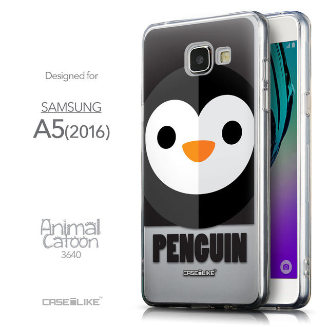 Front & Side View - CASEiLIKE Samsung Galaxy A5 (2016) back cover Animal Cartoon 3640