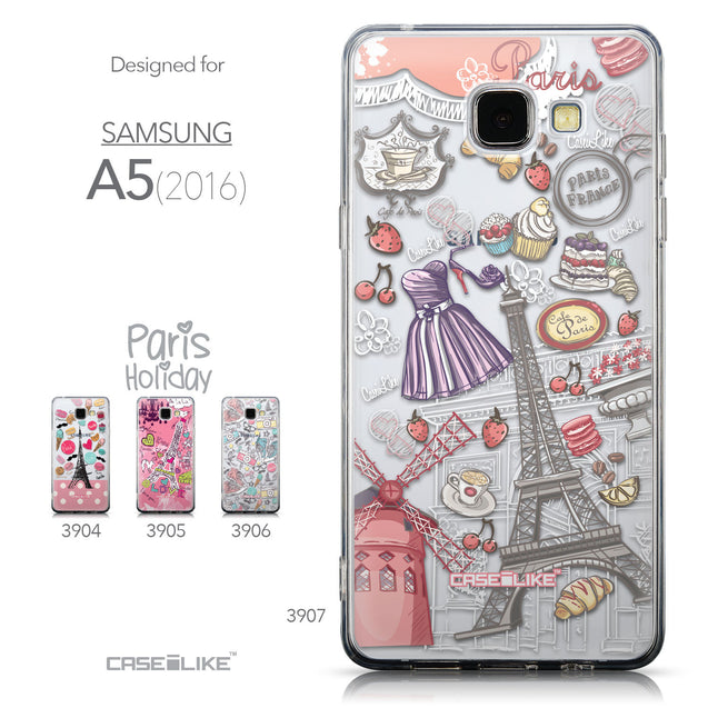 Collection - CASEiLIKE Samsung Galaxy A5 (2016) back cover Paris Holiday 3907