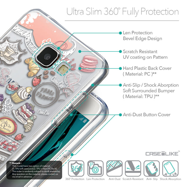 Details in English - CASEiLIKE Samsung Galaxy A5 (2016) back cover Paris Holiday 3907